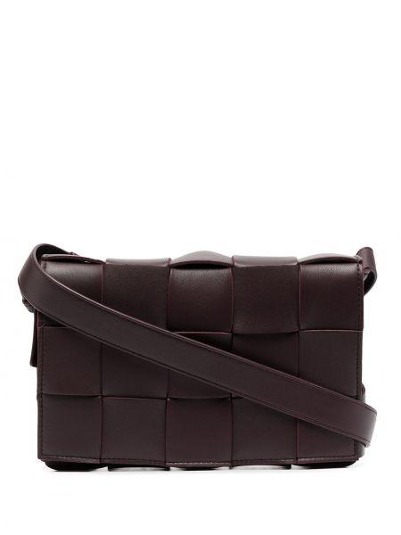 Кожаная сумка через плечо - фиолетовая Bottega Veneta