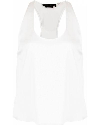 Белый прямой топ без рукавов с вырезом Alice+olivia