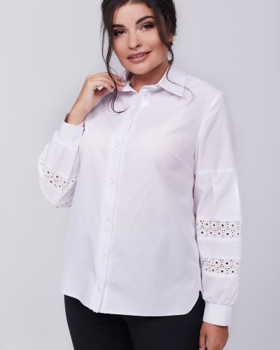 Рубашка с воротником - белая All Posa