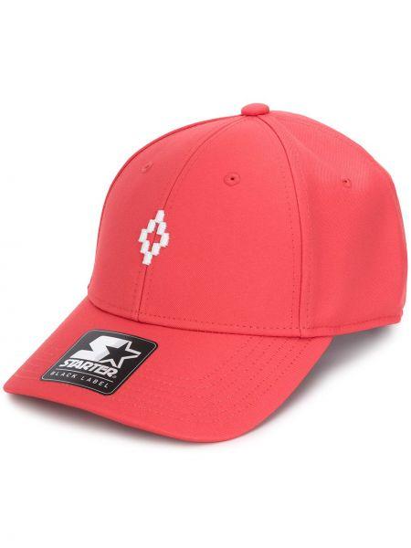 Бейсбольная оранжевая кепка с вышивкой Marcelo Burlon County Of Milan
