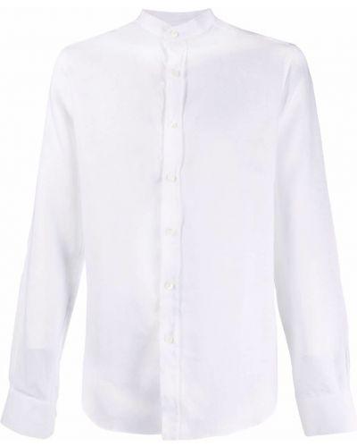 Lniana biała koszula z długimi rękawami Mp Massimo Piombo