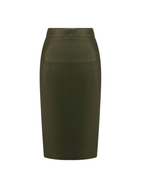Кожаная юбка - зеленая Tom Ford