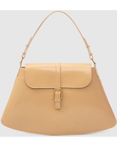 Кожаная сумка - бежевая By Far