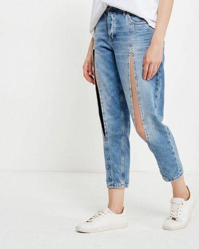 Голубые джинсы-скинни Topshop