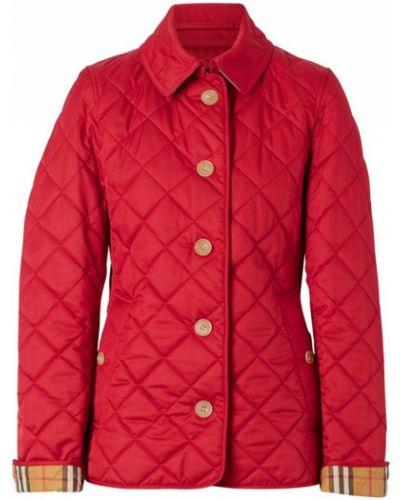 Стеганая куртка в клетку на пуговицах Burberry