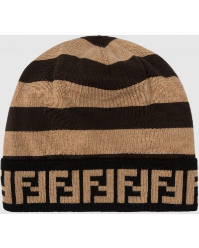 Шерстяная шапка - коричневая Fendi