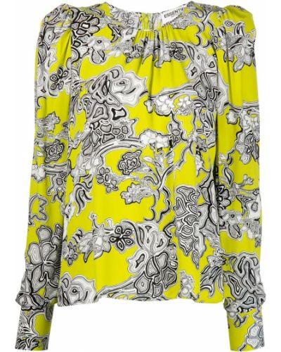 Блузка с принтом - желтая Essentiel Antwerp