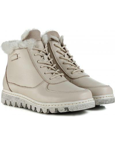 Ботинки с мехом - бежевые Meego Comfort