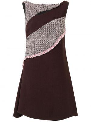 Różowa sukienka rozkloszowana z jedwabiu Christian Dior