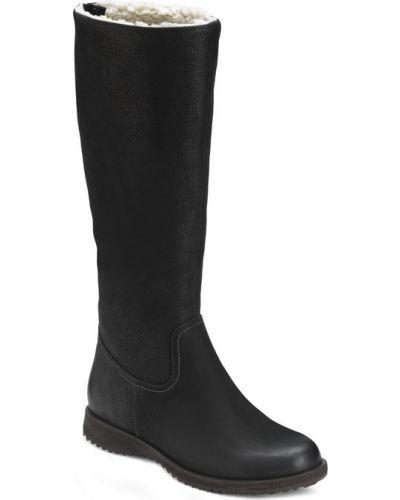 Ботинки на каблуке осенние черные Ecco