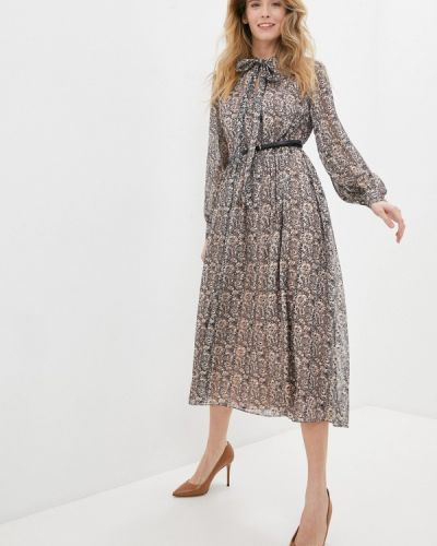 Прямое бежевое платье Lusio