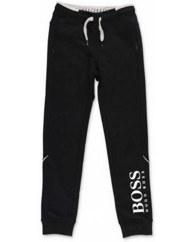 Czarne spodnie dresowe bawełniane Hugo Boss