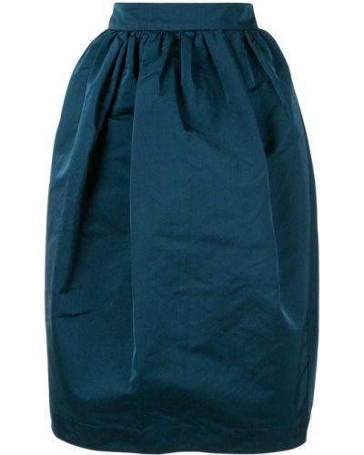 Юбка с завышенной талией синяя Rochas