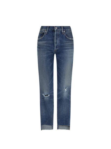 Укороченные джинсы синие с эффектом потертости Citizens Of Humanity
