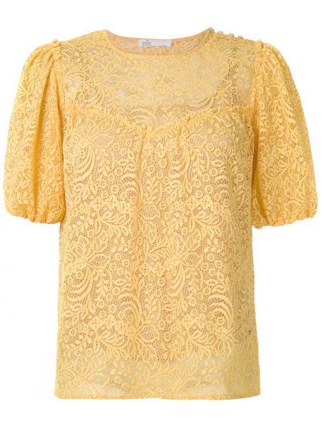 Блузка с коротким рукавом кружевная батник НК