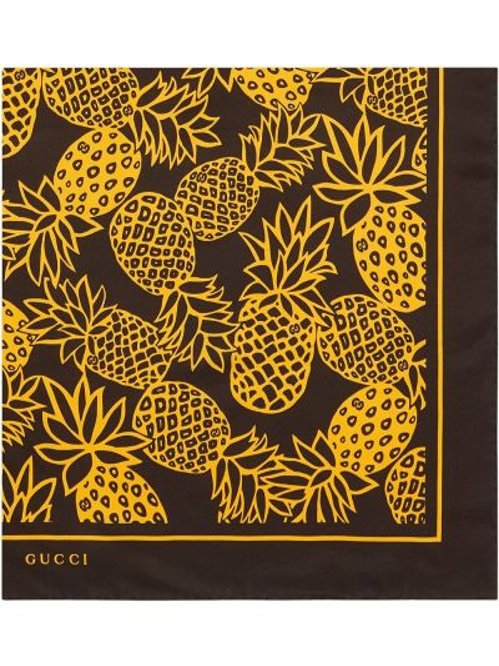 Jedwab szalik z logo Gucci