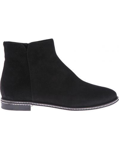 Ботинки на каблуке замшевые кожаные Le Silla