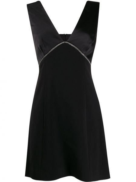 Платье с V-образным вырезом - черное Three Floor