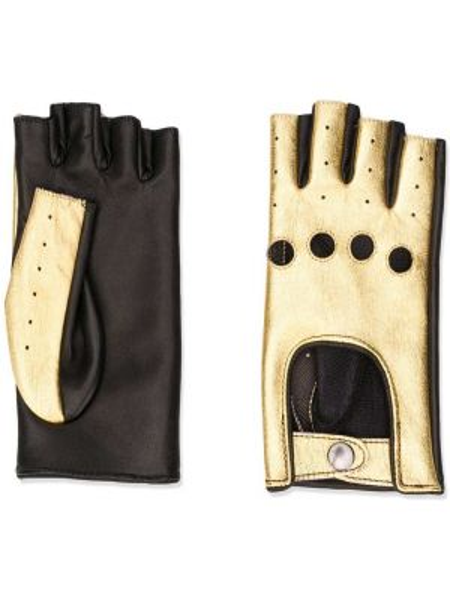 Skórzany rękawiczki wysoki perforowany Manokhi