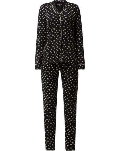Piżama z długimi rękawami - czarna Schiesser