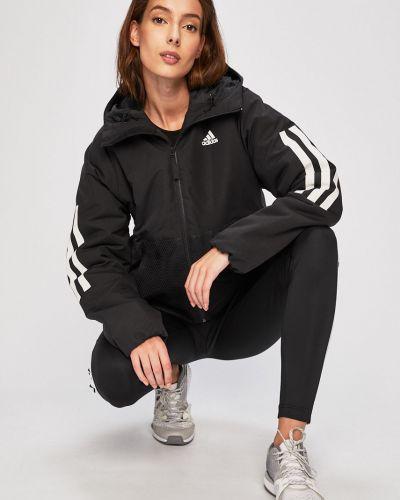 Куртка с капюшоном укороченная с карманами Adidas Performance