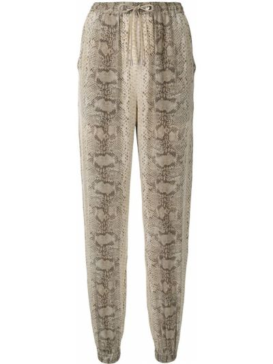 Beżowe spodnie z printem Ralph Lauren Collection