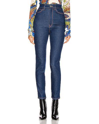 Niebieskie jeansy rurki bawełniane Acne Studios