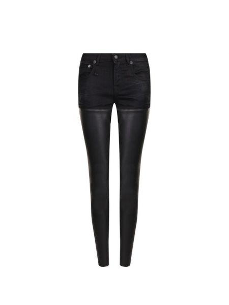 Джинсовые зауженные джинсы - черные R13