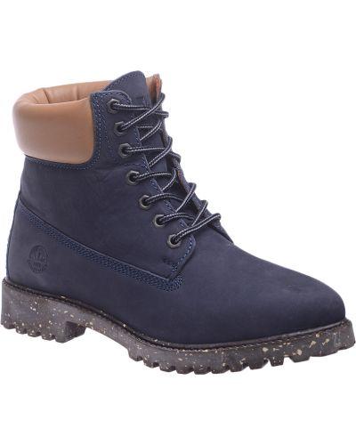 Кожаные ботинки - синие Lumberjack