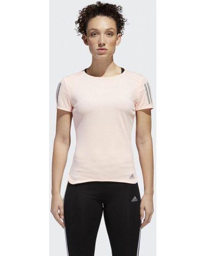 Розовая спортивная футболка Adidas