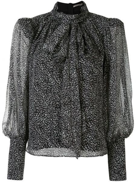 Блузка с принтом - черная Thurley