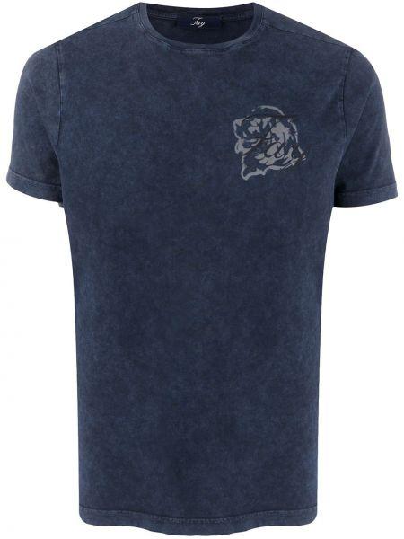 Koszula krótkie z krótkim rękawem prosto z nadrukiem Fay