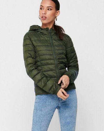 Зеленая теплая куртка Only