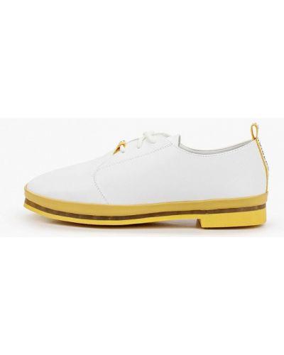 Кожаные белые ботинки Shoiberg