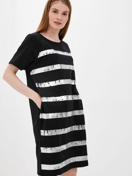 Платье футболка черное снежная королева