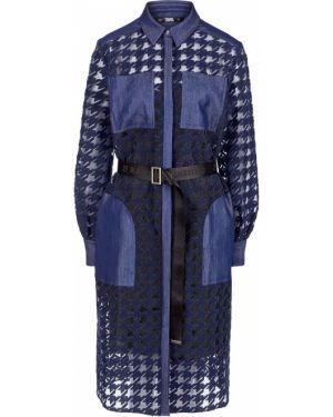 Платье с поясом на пуговицах платье-рубашка Karl Lagerfeld