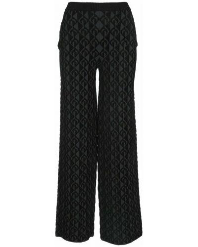 Czarne spodnie Marine Serre