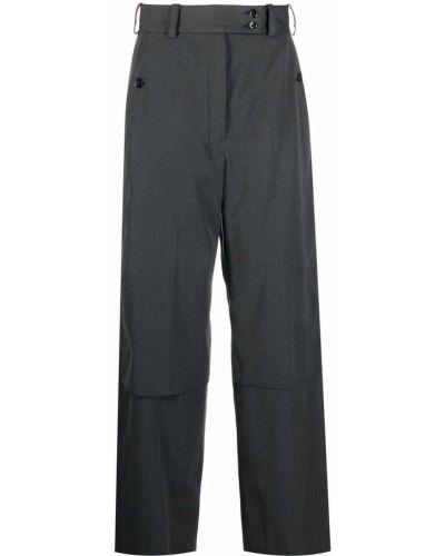 Шерстяные брюки - серые Lemaire