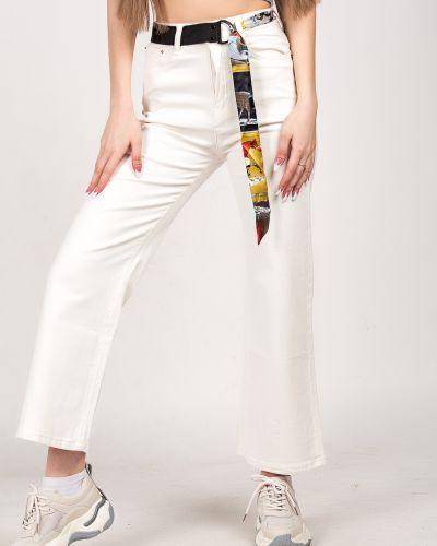 Хлопковые джинсы - белые Denim