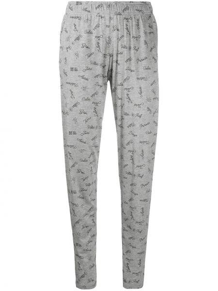 Пижамные зауженные брюки с поясом с надписью Viktor & Rolf