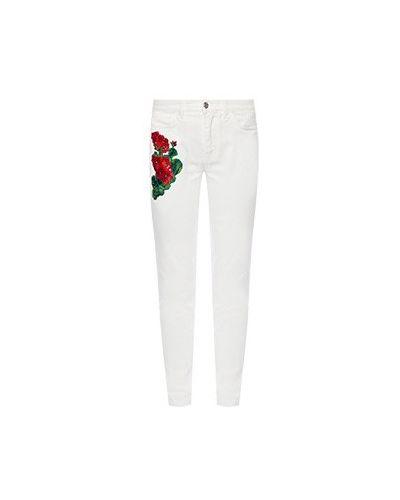 Зауженные джинсы - белые Dolce&gabbana