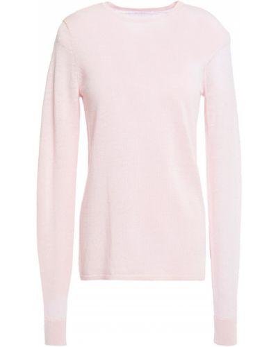 Льняной облегченный розовый свитер Duffy