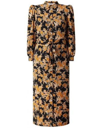 Czarna sukienka rozkloszowana z wiązaniami Freebird