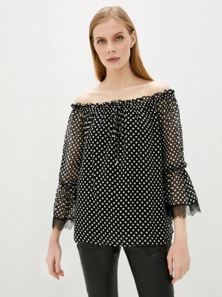 Черная блузка с открытыми плечами Lusio