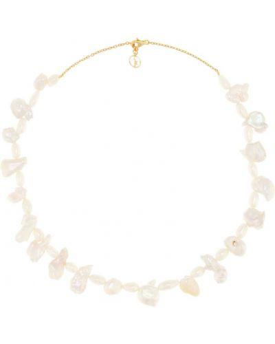 Желтое ожерелье с жемчугом Anissa Kermiche