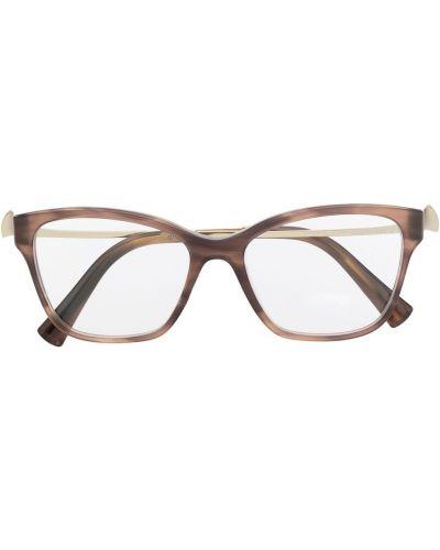 Прямые очки квадратные металлические Bvlgari