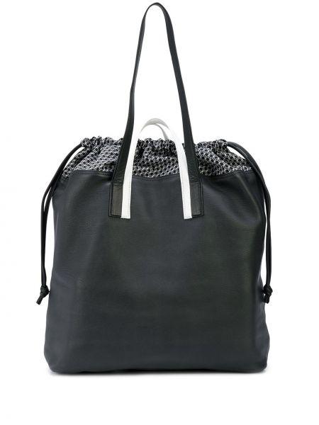 Czarna torba na ramię skórzana Pierre Hardy