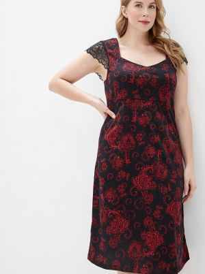 Платье осеннее черное Tenerezza