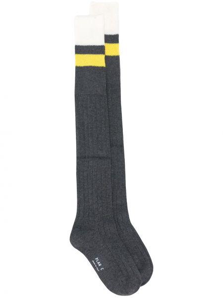 Серые хлопковые носки в полоску Plan C