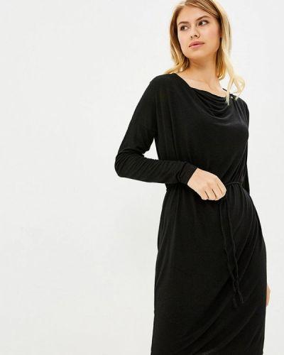 Черное платье с длинными рукавами Gas